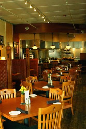 the inside of the restaurant