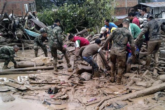 Resultado de imagem para chuvas deixam mais de 150 mortos no sul da Colômbia