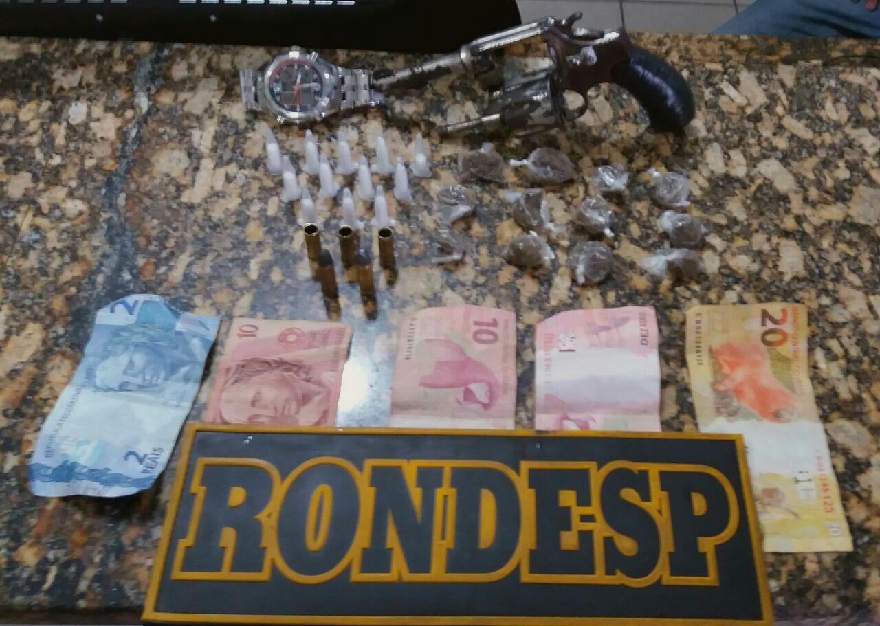 Material apreendido com traficante morto pela Rondesp