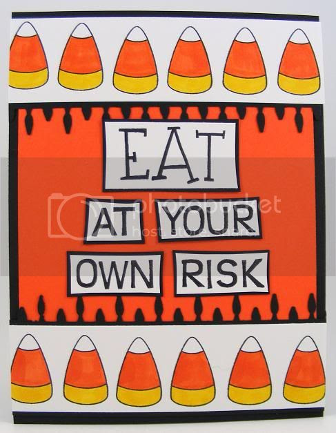 Eat At Your Own Risk Card