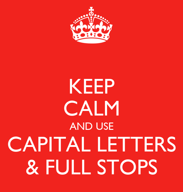 The Use Of Capital Letters In Articles