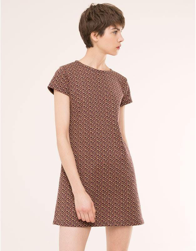 Pull&Bear - mujer - vestidos - vestido jacquard retro - marino - 05390314-V2016