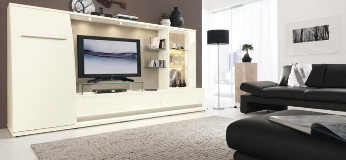 black modern living furniture