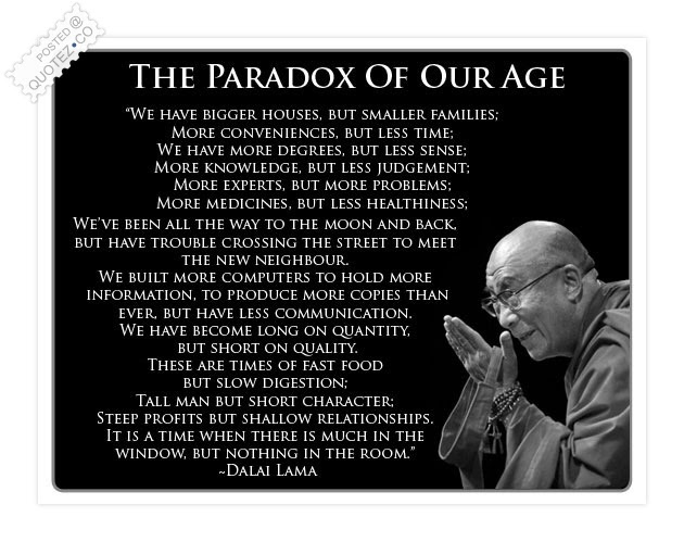 The Paradox Of Our Age Wisdom Quote Quotezco