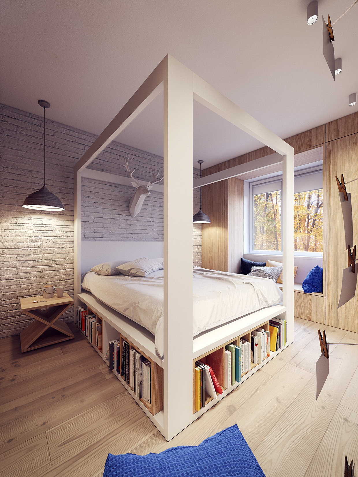 A 60s Inspired Apartment with a Creative Layout and Upbeat
