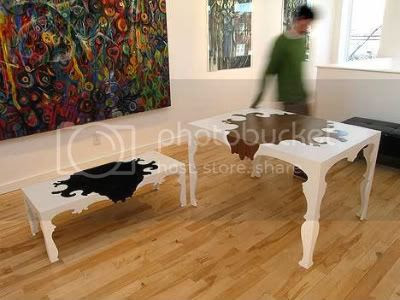 Wilhelm coffee table and Alexander dining table