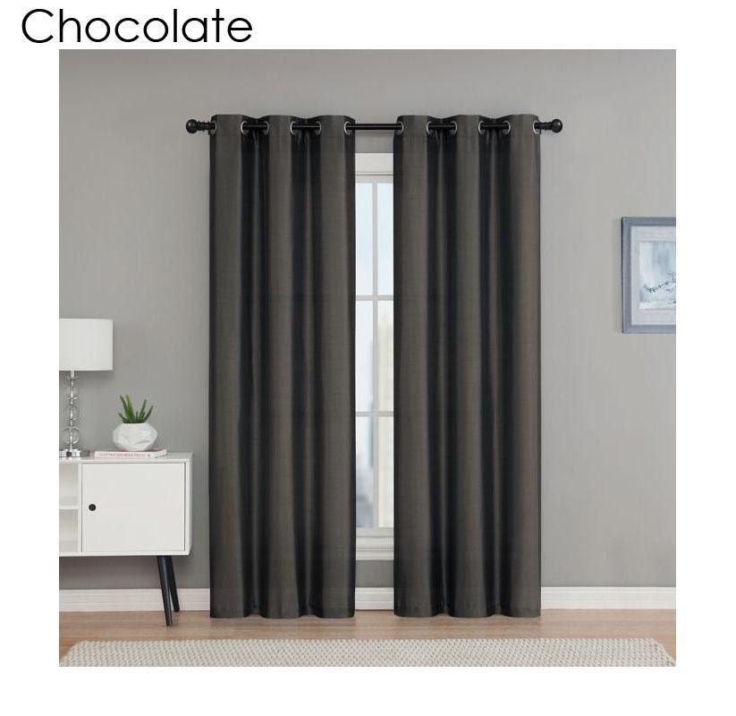 Vcny Home Monroe 84 Inch Grommet Top Room Darkening Window Curtain
