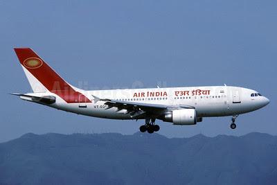 Air India Airbus A310-304 VT-EQS (msn 538) HKG (Rolf Wallner). Image: 912704.