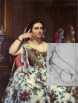 study for the seated portrait of Madame Moitessier by JAD Ingres