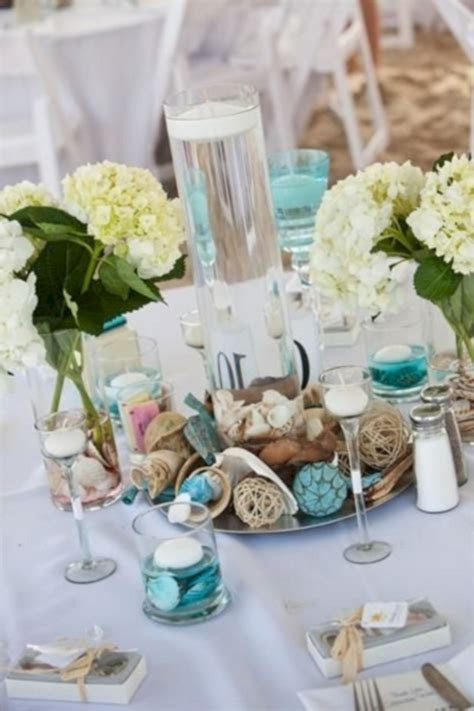 Beach Theme Wedding Reception Centerpieces ? OOSILE