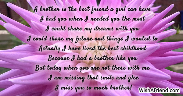Missing You Messages For Brother