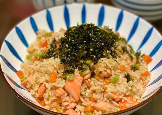 Resep Praktis Salmon butter rice Bikin Nagih