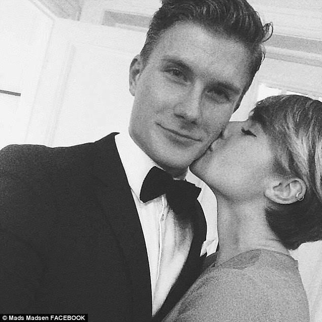 Young love: The 20-year-old's social media is full of images of her together with her equally-glamorous boyfriend, model Mads Madsen