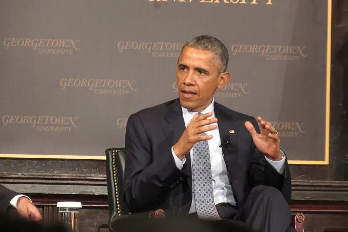 US president Barack Obama speaks at Georgetown University, May 12, 2015. Credit: Matt Hadro/CNA.