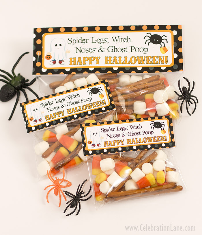 Halloween Treat Bag Tags Free Printable Celebration Lane