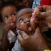 A Somali baby received a polio vaccine in Mogadishu, Somalia, in April.