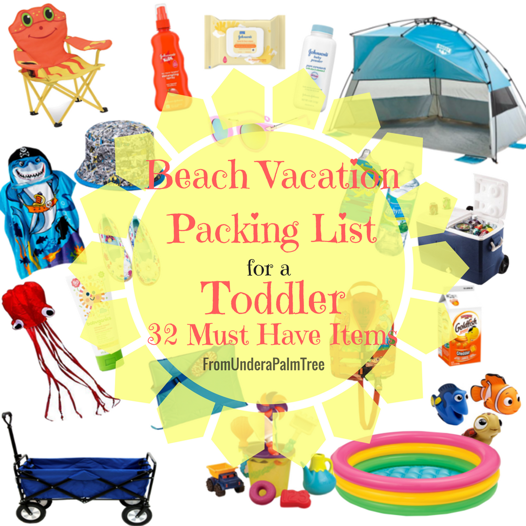 Beach Vacation Packing List for a Toddler