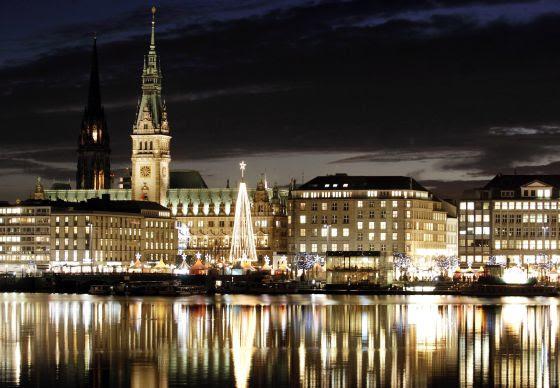 Luces de Navidad en Hamburgo (Alemania)