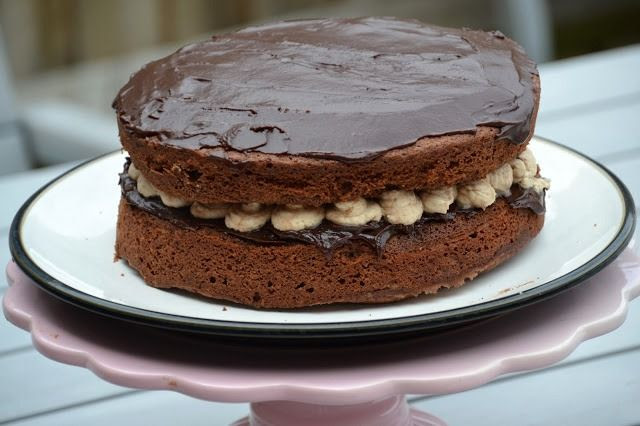 Chocolate Cream Sandwich Cake