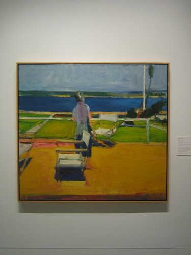Figure on a Porch, 1959, Oil on Canvas, Richard Diebenkorn, Oakland Art Museum _ 9484
