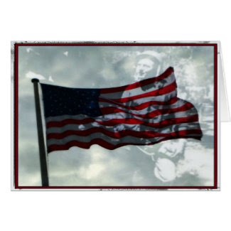 Veterans Day, American Flag and WWII Veteran Cards