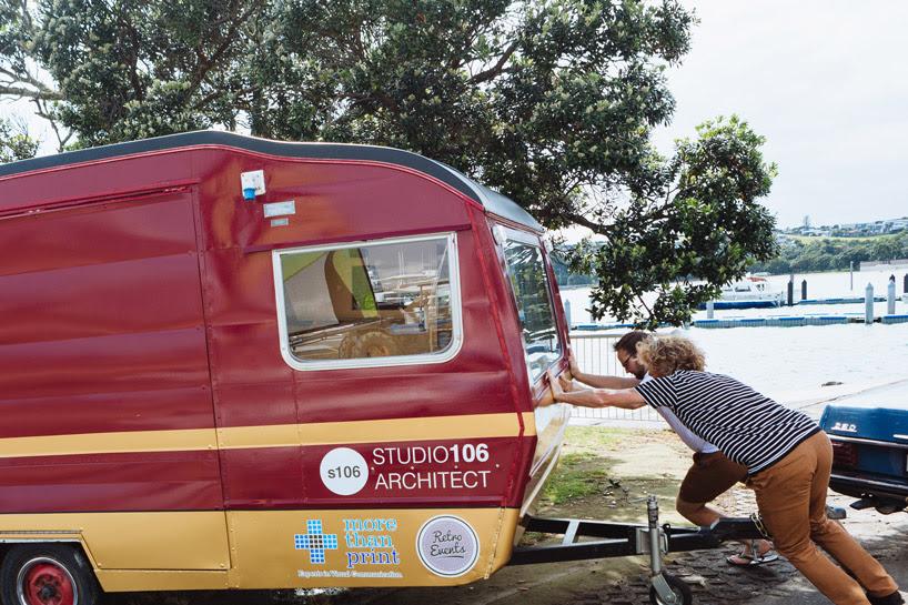 studio106 gone mobile caravan office designboom