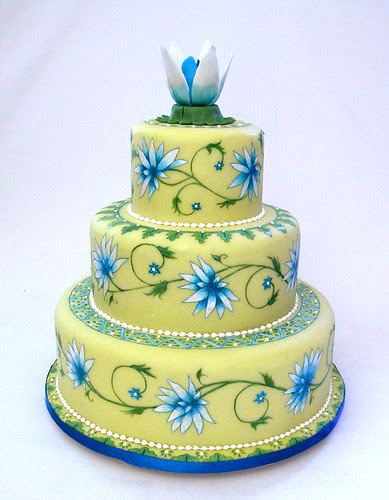 painted wedding cake 2