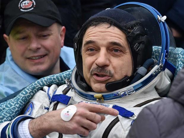 O russo Mikhail Kornienko (Foto: Kirill Kudryavtsev / Pool / via AFP Photo)