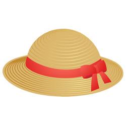 麦わら帽子 素材クリップアート 彩クリweb