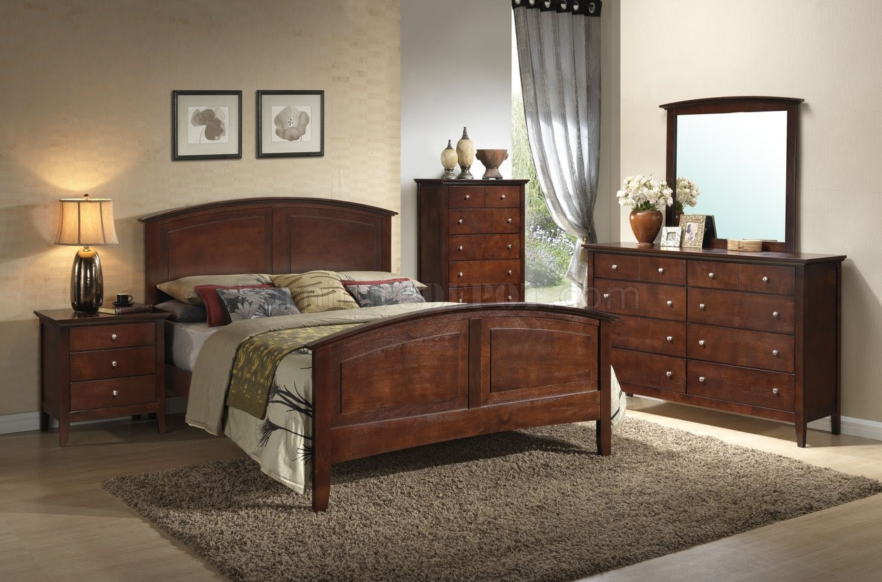 G5400 Bedroom  in Dark Oak  by Glory Furniture  w Options