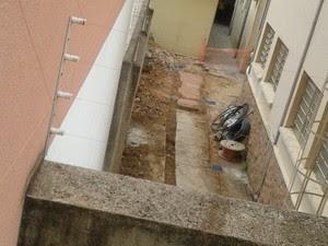 Local onde ossos foram encontrados (Foto: G1 Campinas)