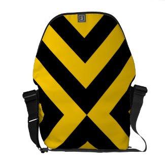 Yellow and Black Chevrons rickshawmessengerbag