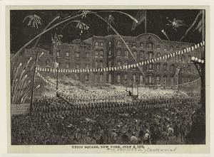 Union Square, New York, July 4... Digital ID: 800810. New York Public Library