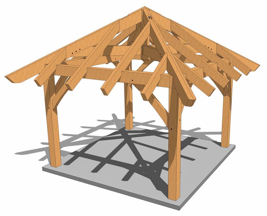 12x12 Gazebo Plans Timber Frame Hq