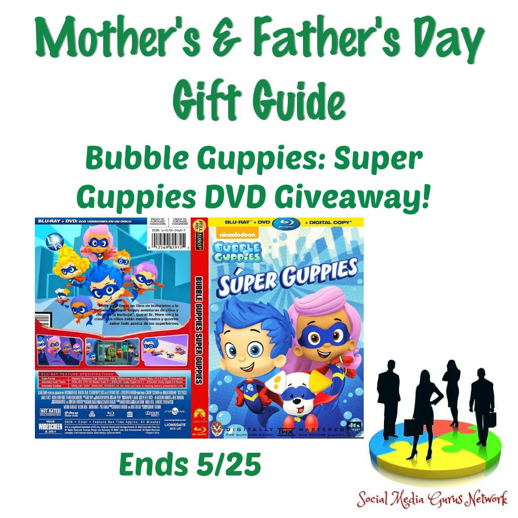 Enter the Bubble Guppies: Super Guppies DVD Giveaway. Ends 5/25