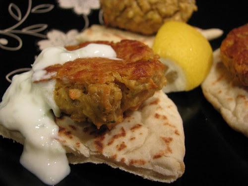 """Oven """"fried"""" falafel"""