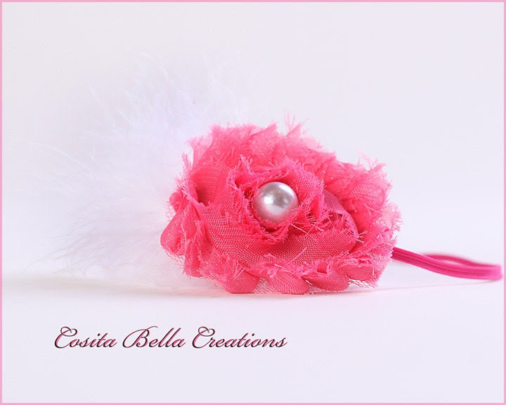 Shabby Flower Headbands,Baby headbands,newborn headbands,infant,toddler,womens headband,photography headband