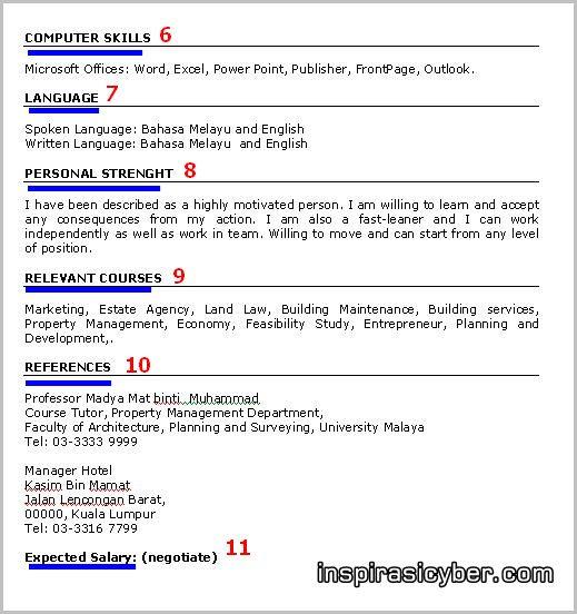 CONTOH RESUME BAHASA INDONESIA DAN INGGRIS: contoh objektif resume bahasa inggeris