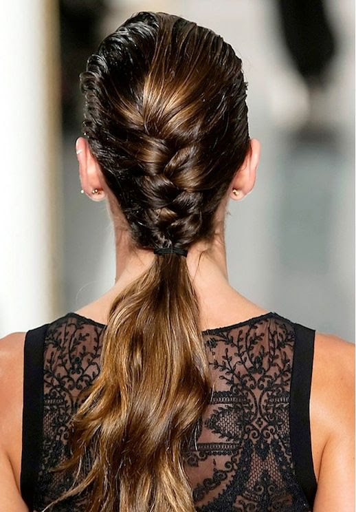 17 Le Fashion Blog 21 Braid Ideas For Long Hair Half French Braided Ponytail Hairstyle Via Byrdie