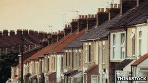 Row of houses. Pic Thinkstock