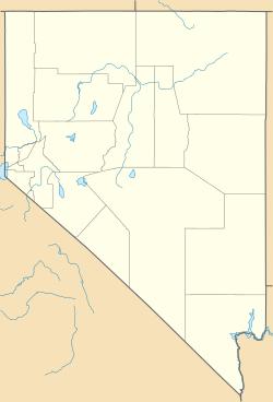 Localização de Las Vegas em Nevada