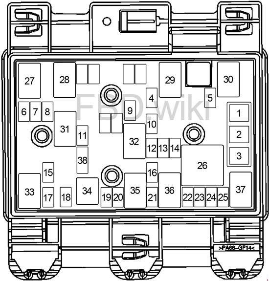 2004 2007 Chevrolet Malibu Fuse Box Diagram