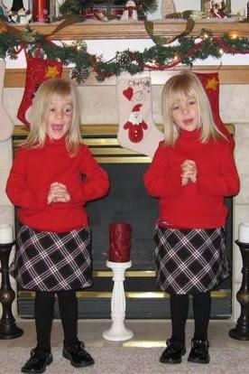 Lindsey & Sydney singing Away in a Manger