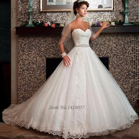 Chic Country Style Wedding Dresses Lace Ball Gown Plus