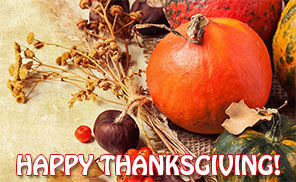 Happy Thanksgiving with food