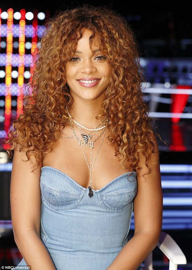 Thanks for the chair: Following her stint on the show Rihanna appeared thrilled