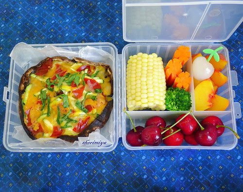 Portobello Pizza Bento by sherimiya ♥