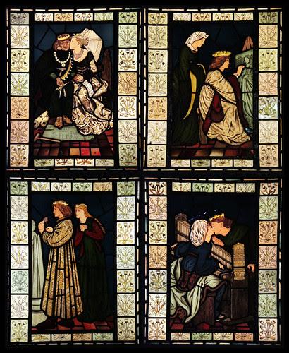 Stained glass - King Rene's honeymoon