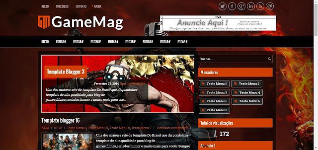 Template pronto para blog de Games Jogos