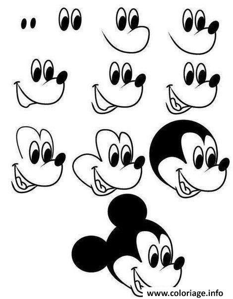 Coloriage Dessin Facile A Faire Mickey Mouse Disney Jecoloriecom
